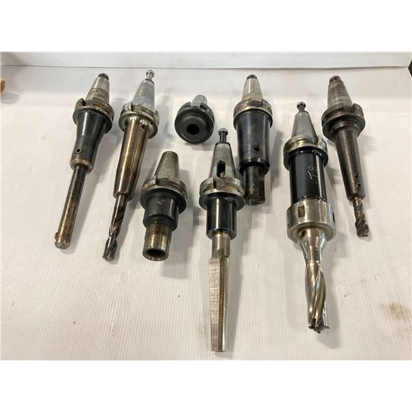 Lot of (9) BT40 Misc Tool Holders