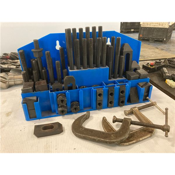 T-Slot Tie Down Set with C-Clamps