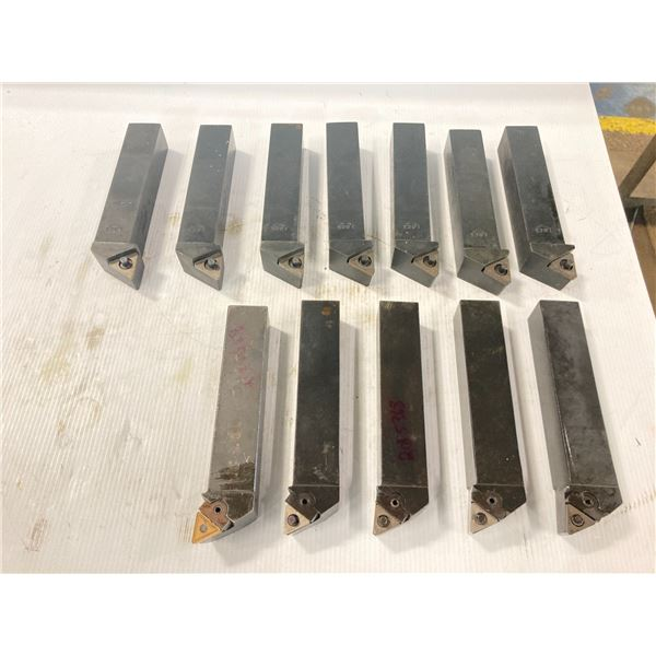 """Lot of (13) 1.25"""" Indexable Lathe Tool Holders"""