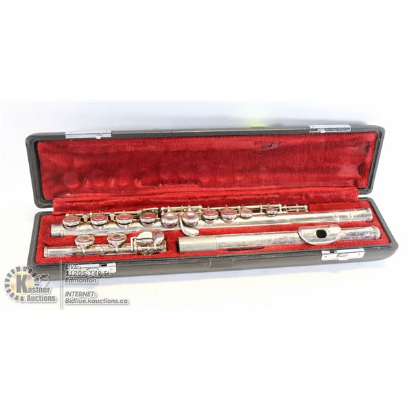 VINTAGE FLUTE WITH CASE NO NAME