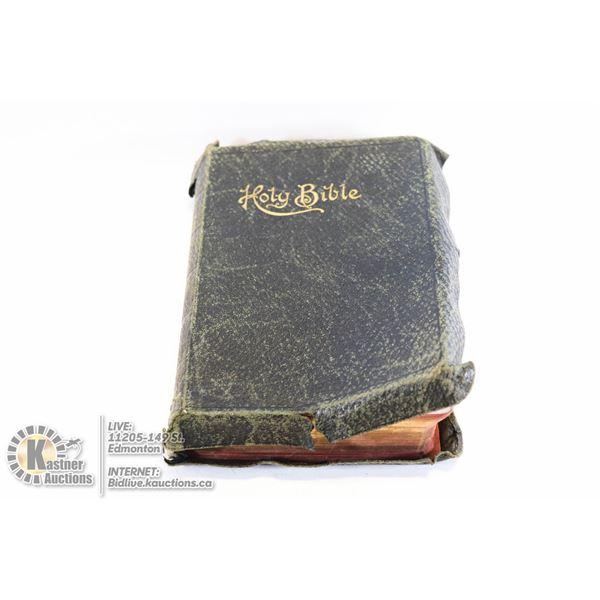 1895 HOLY BIBLE SELF PROUNCING SS TEACHERS COMBINATION BY J.R JONES
