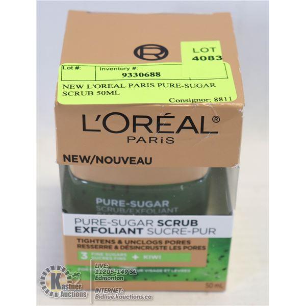 NEW L'OREAL PARIS PURE-SUGAR SCRUB 50ML