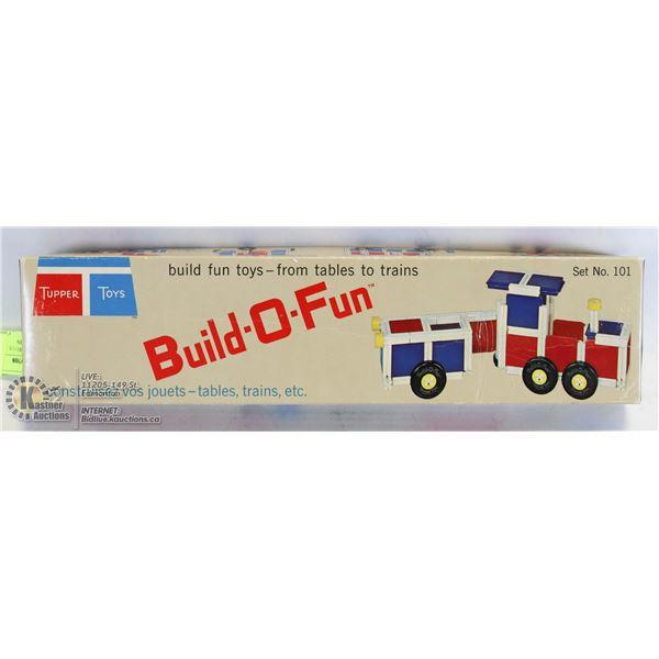 VINTAGE TUPPER TOYS BUILD-O-FUN TRAIN