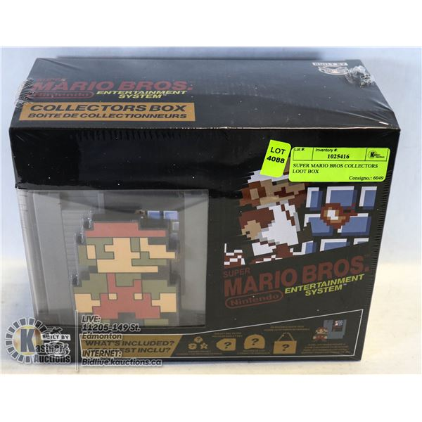 SUPER MARIO BROS COLLECTORS LOOT BOX OFFICIALLY LICENSED NOT A STORE RETURN