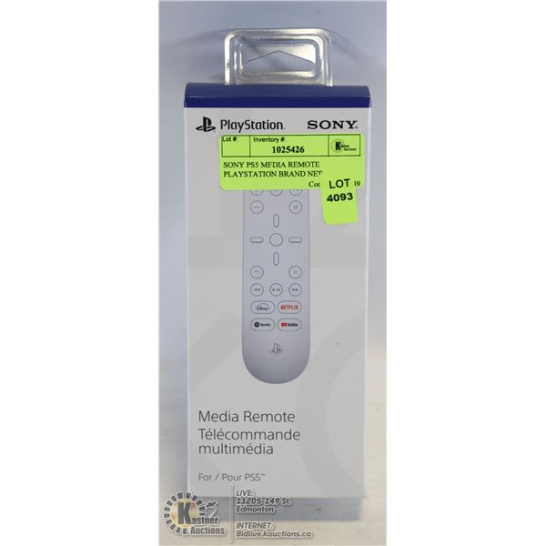 SONY PS5 MEDIA REMOTE PLAYSTATION BRAND NEW UNOPENED. NAVIGATE YOUR SYSTEM AND DEDICATED APP BUTTONS