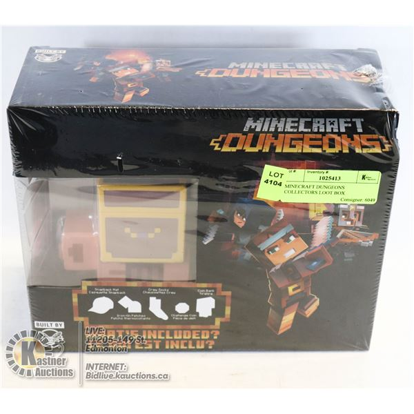 MINECRAFT DUNGEONS COLLECTORS LOOT BOX OFFICIALLY LICENSED NOT A STORE RETURN