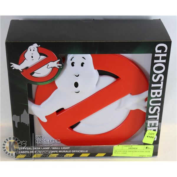 BRAND NEW GHOSTBUSTERS DESK WALL LAMP OFFICIALLY LICENSED NOT A STORE RETURN