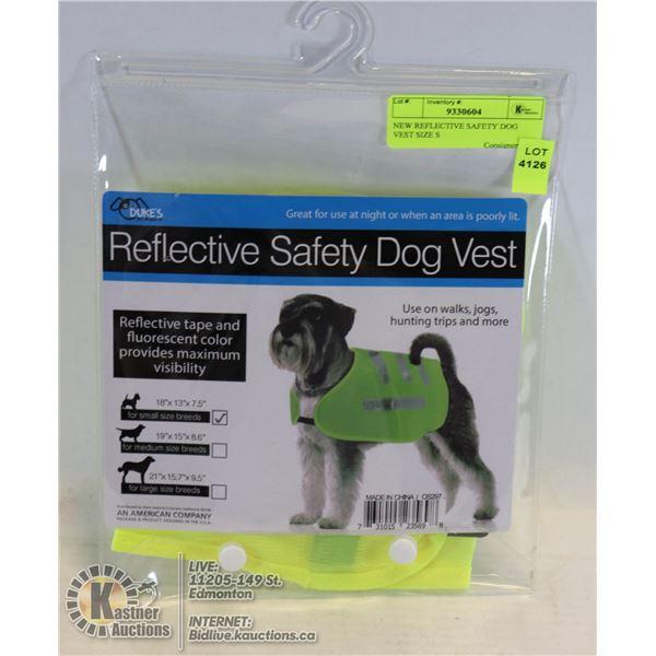NEW REFLECTIVE SAFETY DOG VEST SIZE S
