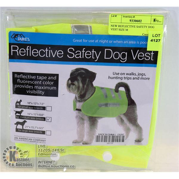 NEW REFLECTIVE SAFETY DOG VEST SIZE M