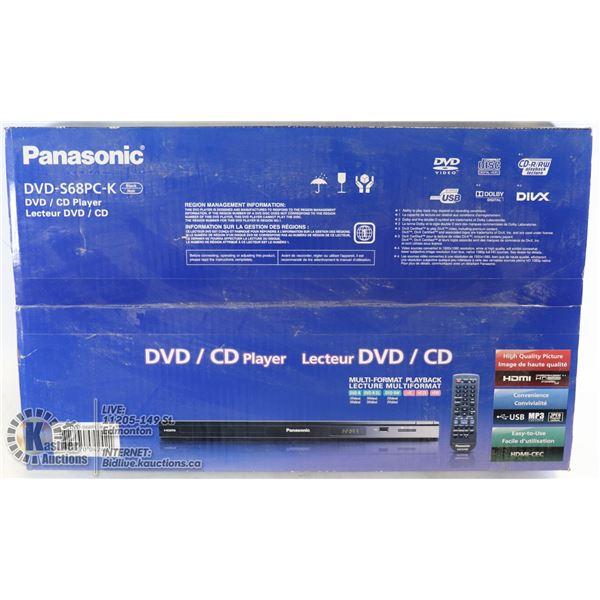 NEW SEALED PANASONIC DVD / CD PLAYER MODEL S68PC-K