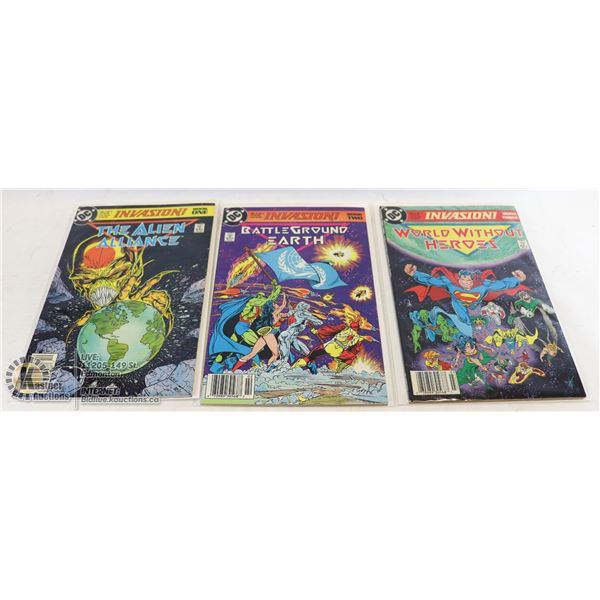 DC COMICS INVASION FULL SET #1-3