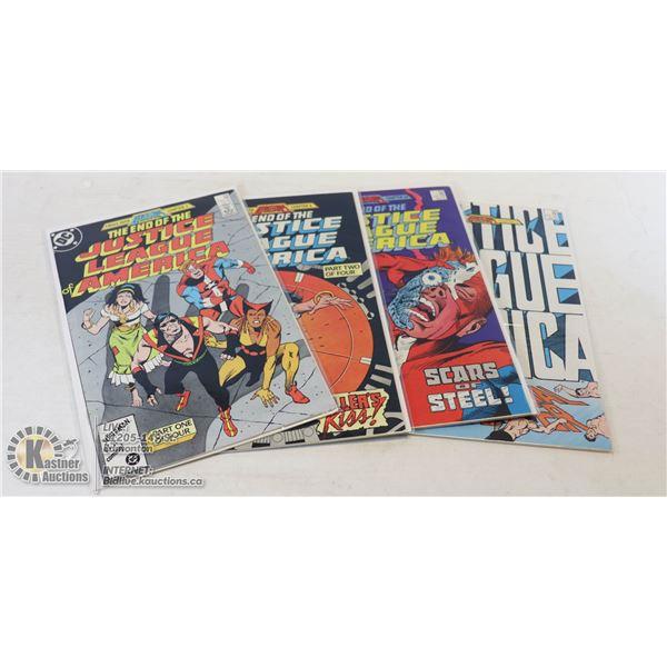 DC COMICS JUSTICE LEAGUE OF AMERICA #258-261