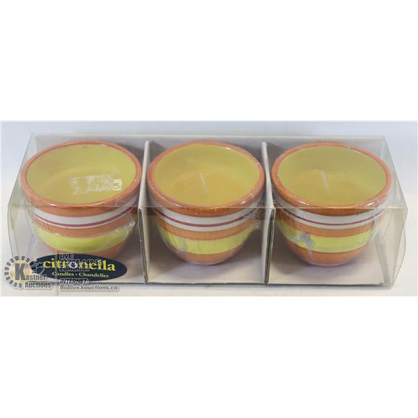 SET OF 3 CITRONELLA CANDLES