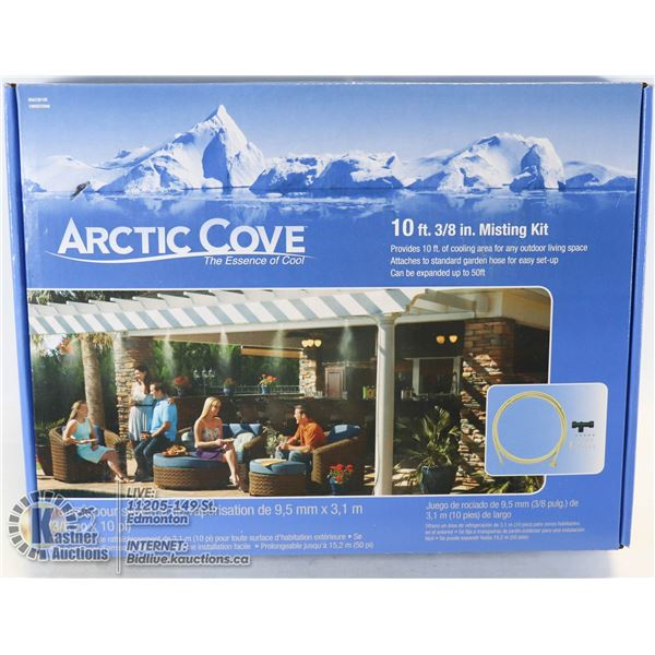 NEW ARCTIC COVE MISTING KIT 10FT OF COOLING AREA