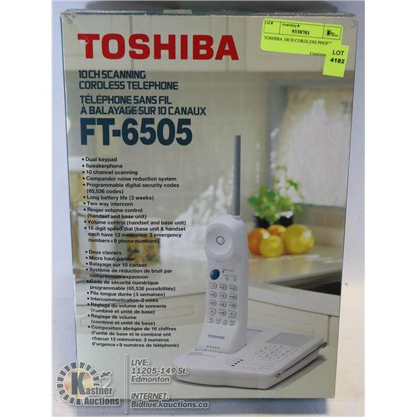 TOSHIBA 10CH CORDLESS PHONE