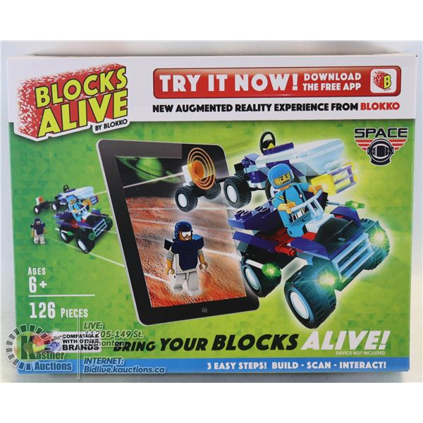 BLOCKS ALIVE - BUILD A VEHICLE THEN WATCH IT COME TO LIFE **** COMPATIBLE WITH OTHER BRANDS *****