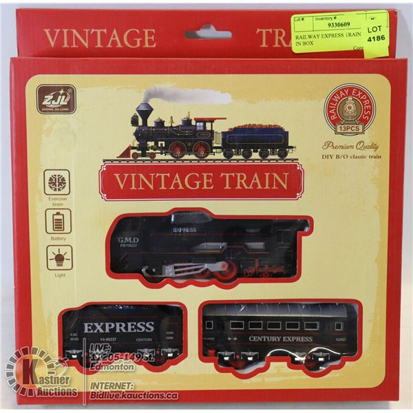 RAILWAY EXPRESS TRAIN SET STILL IN BOX