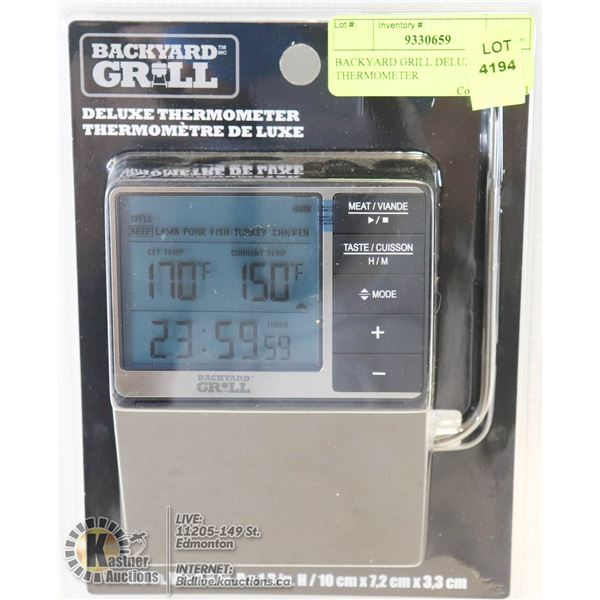 BACKYARD GRILL DELUXE THERMOMETER