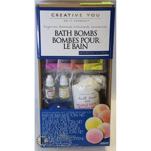 NEW CREATIVE YOU DYI BATH BOMBS