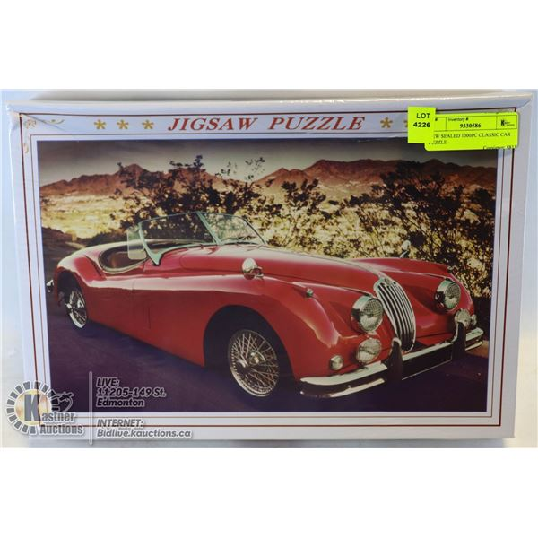 NEW SEALED 1000PC CLASSIC CAR PUZZLE