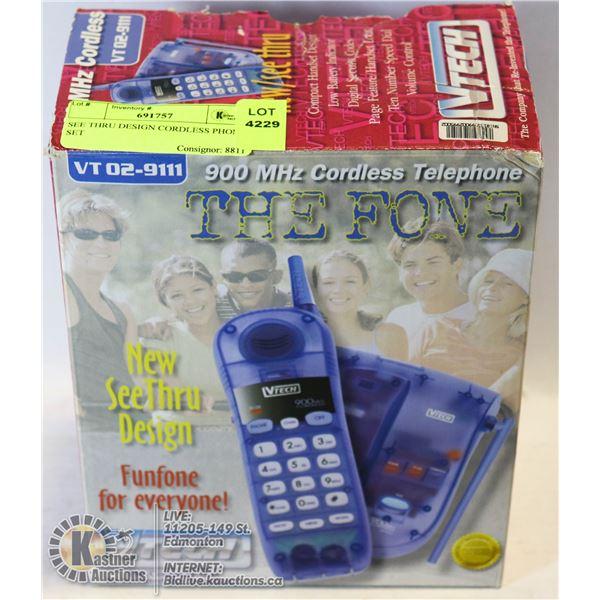 SEE THRU DESIGN CORDLESS PHONE SET