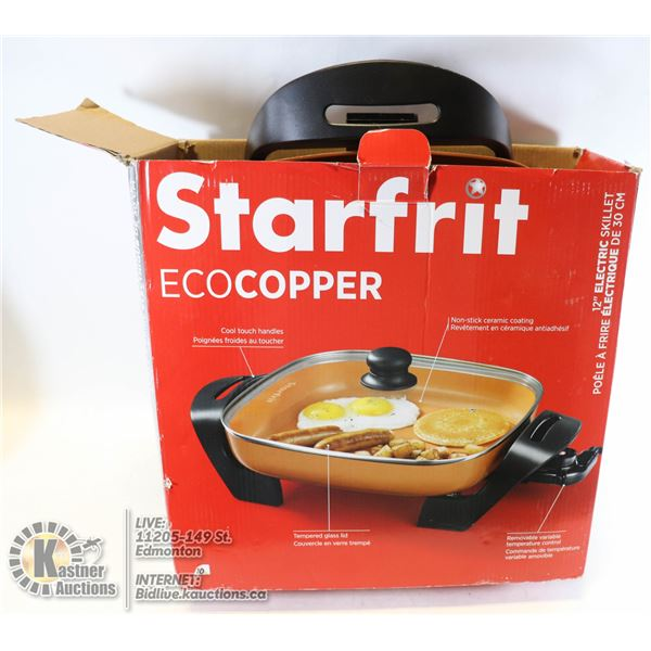 """STARFRIT 12"""" ECO-COPPER ELECTRIC SKILLET ( UNUSED ASSEMBLED ONLY"""