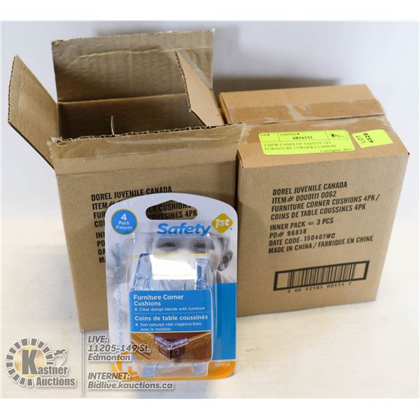 2 NEW CASES OF SAFETY 1ST FURNITURE CORNER CUSHION 4 PER PACK & 3 PACKS PER CASE = TOTAL 24 PCS