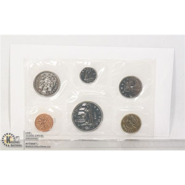 1982 ORIGINAL RCM PROOF-LIKE COIN SET SEALED AT THE MINT IN PLIOFILM, THESE COINS ARE STRUCK IN BRIL