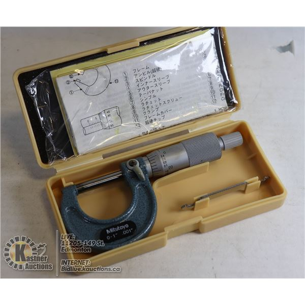 MITUTOYO MICROMETER WITH BOX
