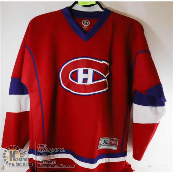 OFFICIAL NHL LADIES MONTREAL CANADIANS HOCKEY JERSEY - SIZE L/XL