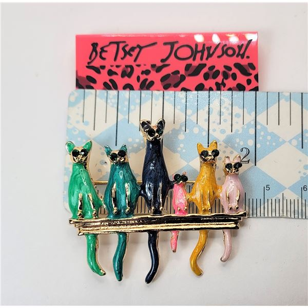 12)  GOLD TONE AND GREEN, TURQUOISE BLUE, NAVY BLUE,  HOT PINK, YELLOW AND PALE PINK COOL CATS SITTI