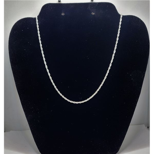 """6)  EVP 925 SILVER STAMPED TWISTED ROPE CHAIN, 20"""""""