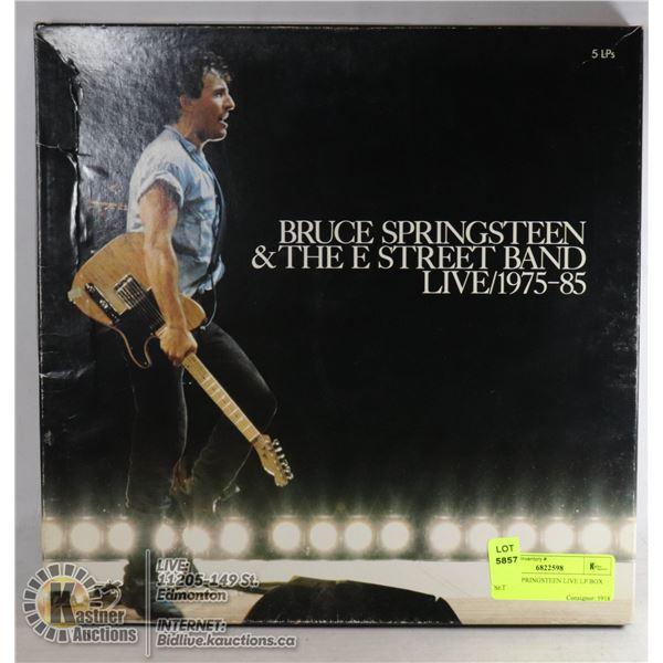 BRUCE SPRINGSTEEN LIVE LP BOX SET