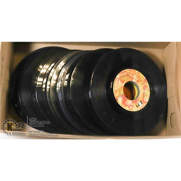 50 ROCK 45 RPM JUKE BOX RECORDS