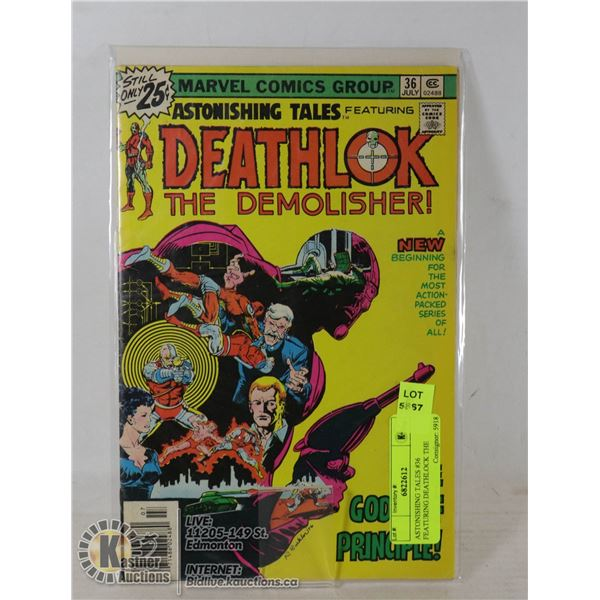 ASTONISHING TALES #36 FEATURING DEATHLOCK THE DEMOLISHER COMIC.