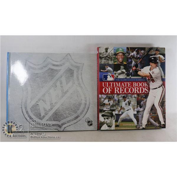 NHL HOCKEY TREASURES & MLB ULTIMATE BOOK OF RECORDS.