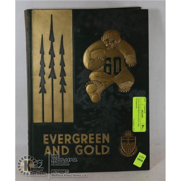 UOFA EVERGREEN & GOLD 1960 YEARBOOK