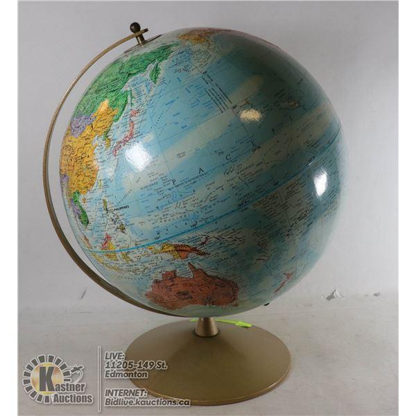 "REPLOGLE WORLD NATION SERIES 1960'S 12"" GLOBE"