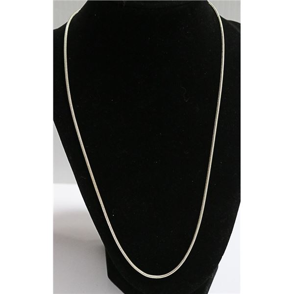 .925 SOLID SILVER ITAILIAN 2MM SNAKE LINK CHAIN