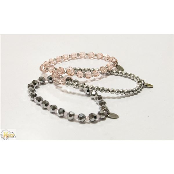 TOCAR SILVER AND PINK CRYSTAL CANCER AWARENESS