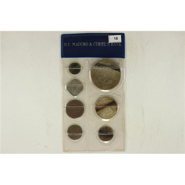 UNCIRCULATED COINS FROM NETHERLAND ANTILLES SET