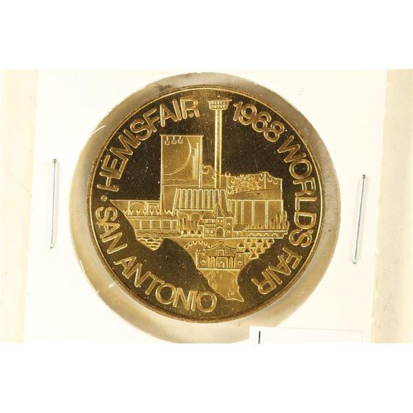 1 1/4'' 1968 SAN ANTONIO HEMISFARE WORLD'S FAIR