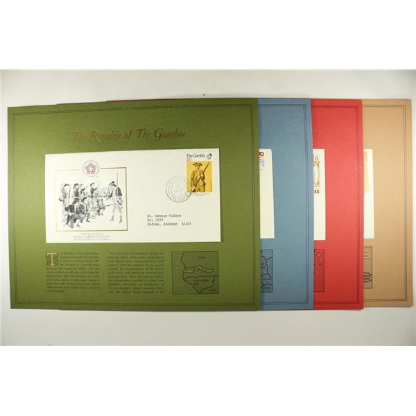 4 ASSORTED 1976 1ST DAY COVERS WITH INFO CARDS