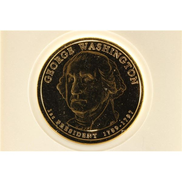 2007 GOLD ENRICHED WASHINGTON DOLLAR BRILLIANT UNC