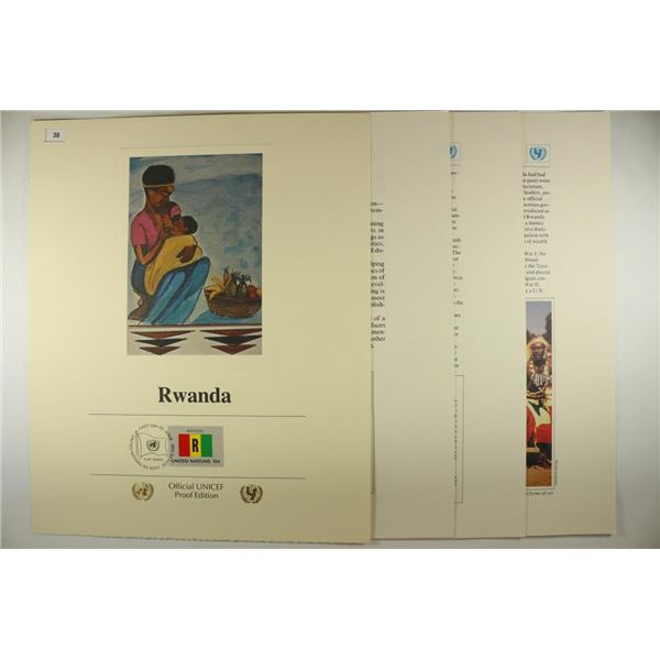 RWANDA FLAGS OF ALL NATIONS OFFICIAL UNICEF PROOF