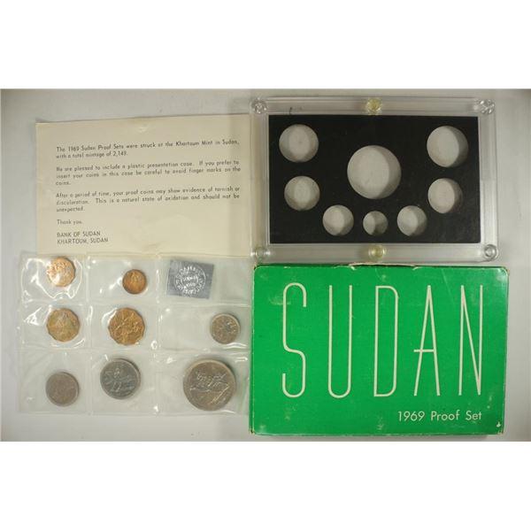 1969 SUDAN PROOF SET, ORIGINAL MINT PACKAGING