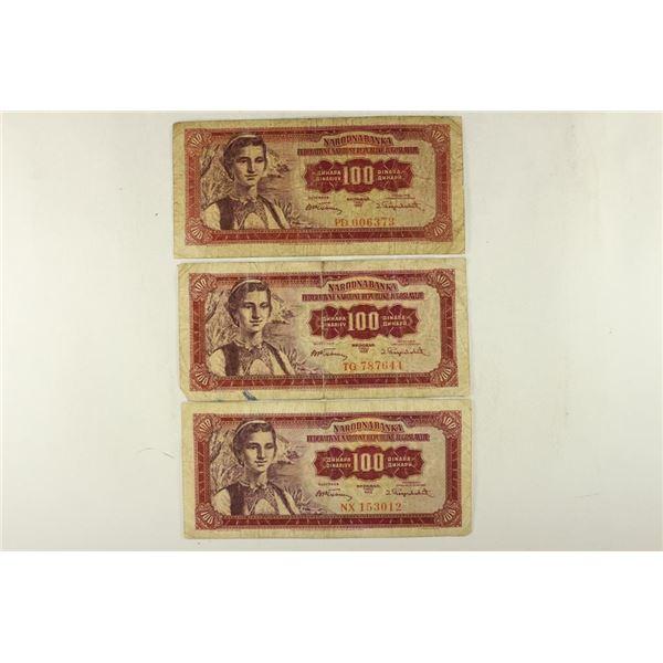 3-1955 YUGOSLAVIA 100 DINARA