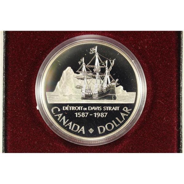 1987 CANADA DAVIS STRAIT PROOF SILVER DOLLAR