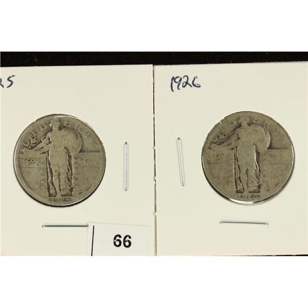 1925 & 1926 STANDING LIBERTY QUARTERS