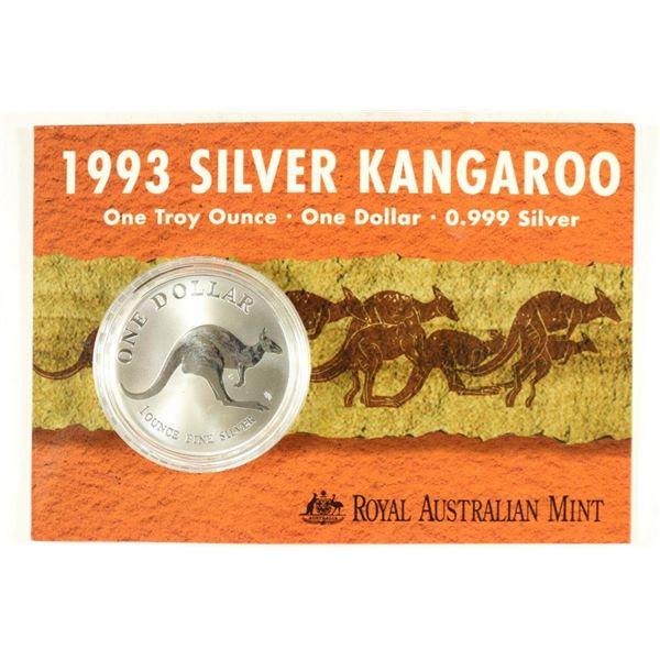 1993 AUSTRALIA SILVER KANGAROO DOLLAR